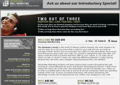 Advantage Mall Marketing (Flash Intro, Website)