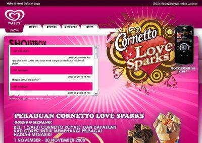 Cornetto Love Sparks (Website)