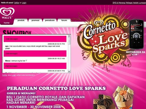 Cornetto Love Sparks (Website)
