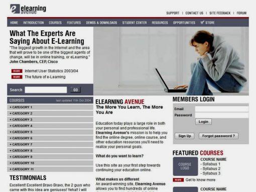 Elearning Avenue (Website)