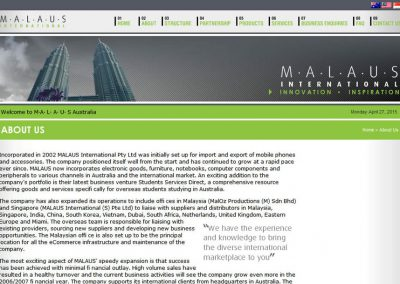 MALAUS International (Website)