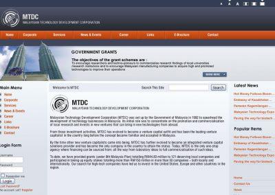 Malaysian Technology Development Corporation (MTDC) (Mockup)