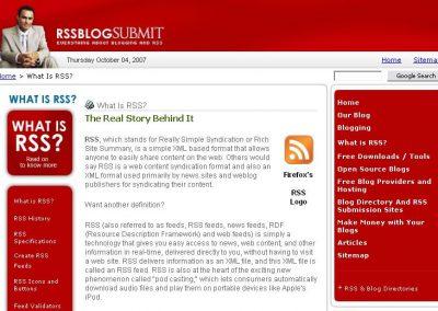 RSS Blog Submit (Website)