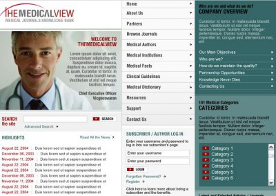The Medical View (Mockup)
