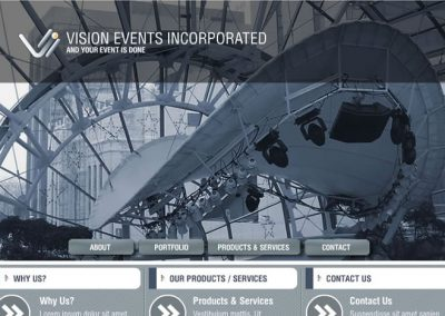 Visions Events Incorporated (Mockup)