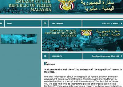 Embassy of the Republic of Yemen Malaysia (Website)
