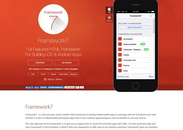 Click here to visit site Framework7