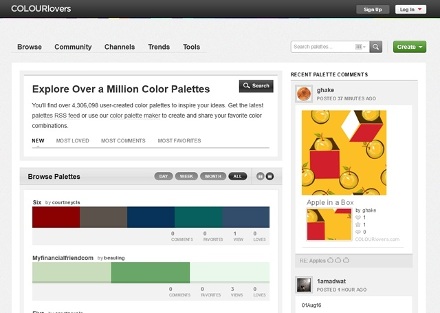 Click here to visit Colour Lovers